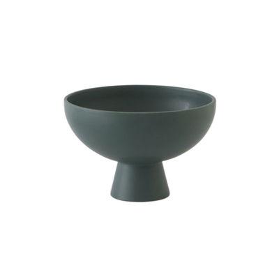 Arts de la table - Saladiers, coupes et bols - Coupe Strøm Small / Ø 15 cm - Céramique / Fait main - raawii - Vert Gables - Céramique