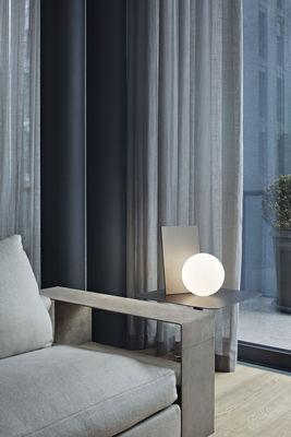 Lampe de table Extra T LED / Verre soufflé & métal - H 35 cm - Flos blanc,graphite anodisé en métal