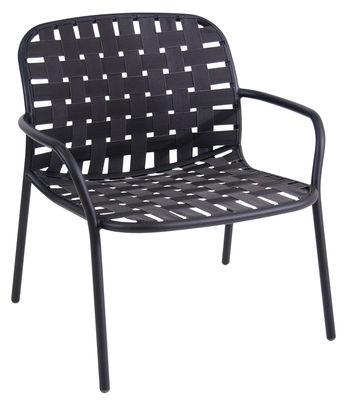 Yard Lounge Sessel / Sitzfläche aus elastischen Gurten - Emu - Schwarz