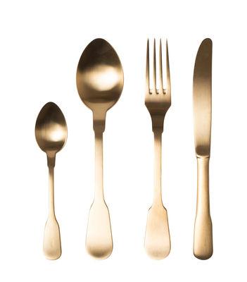 Ménagère Classic / 24 pièces - 6 personnes - Bitossi Home or mat en métal