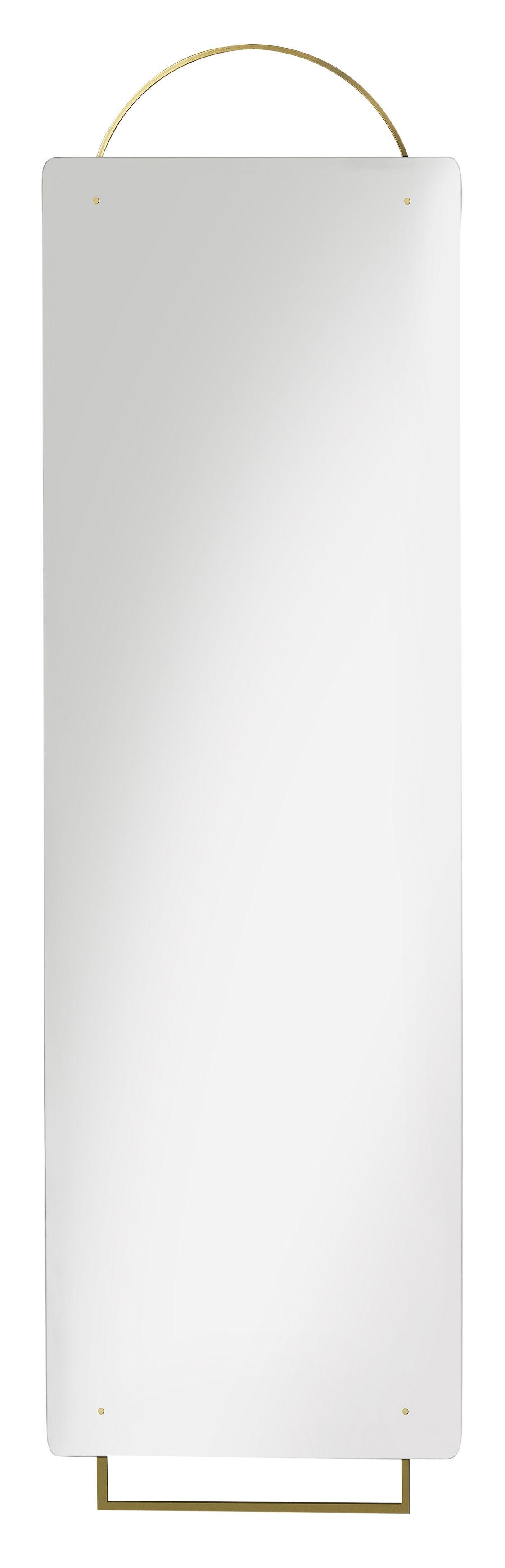 Déco - Miroirs - Miroir mural Adorn Large / L 45 x H 159 cm - Laiton - Ferm Living - Laiton - Métal plaqué laiton, Verre