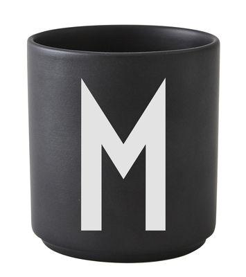 Mug A-Z / Porcelaine - Lettre M - Design Letters noir en céramique