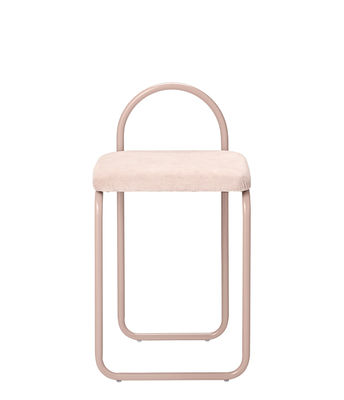 Furniture - Chairs - Angui Padded chair - / Velvet by AYTM - Pink / Pink structure - Cotton velvet, Foam, Lacquered iron