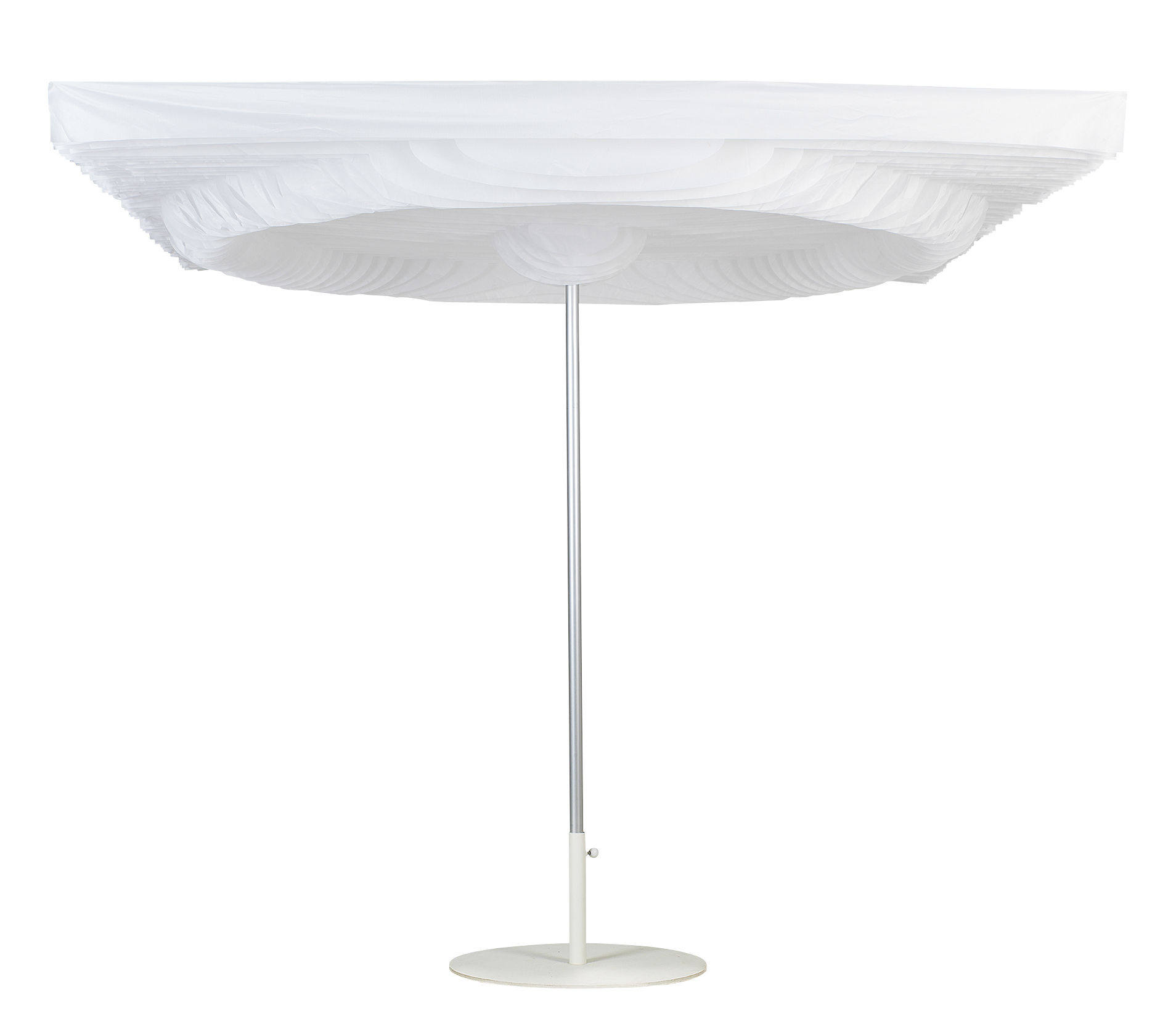 Outdoor - Parasols - Parasol Twister / 250 x 250 cm - Symo - Blanc - Acrylique, Aluminium, Polyester, PVC