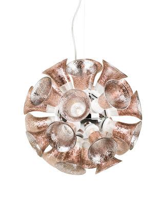 Chalice 48 Pendelleuchte / Glaskelche - Ø 61 cm - Moooi - Kupfer,Transparent,Gris chromé