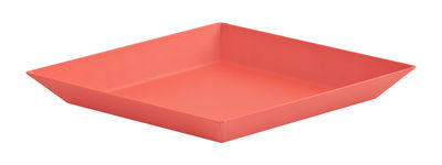 Arts de la table - Plateaux - Plateau Kaleido XS / 19 x 11 cm - Hay - Rouge - Acier peint