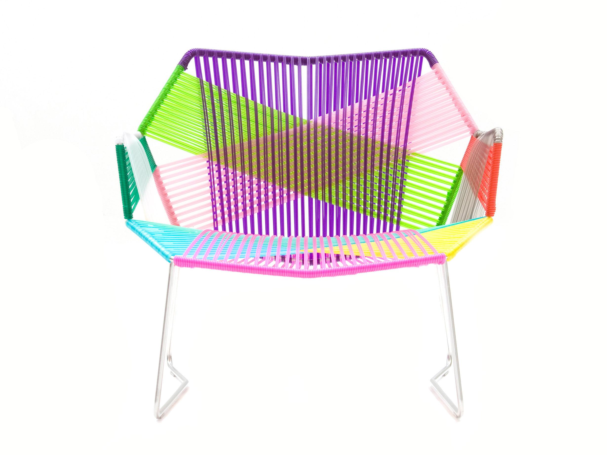 Arredamento - Poltrone design  - Poltrona bassa Tropicalia - Con braccioli di Moroso - Motivi Carnival / Struttura inox - Acciaio inossidabile