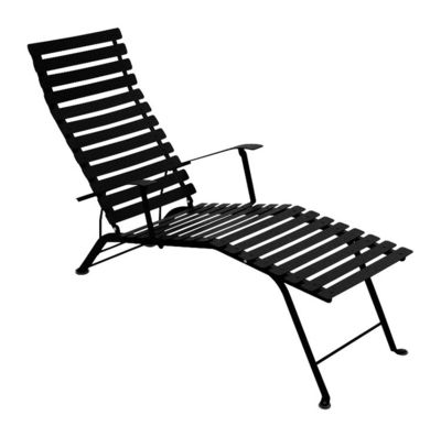 Outdoor - Sun Loungers & Hammocks - Bistro Reclining chair by Fermob - Black - Lacquered steel