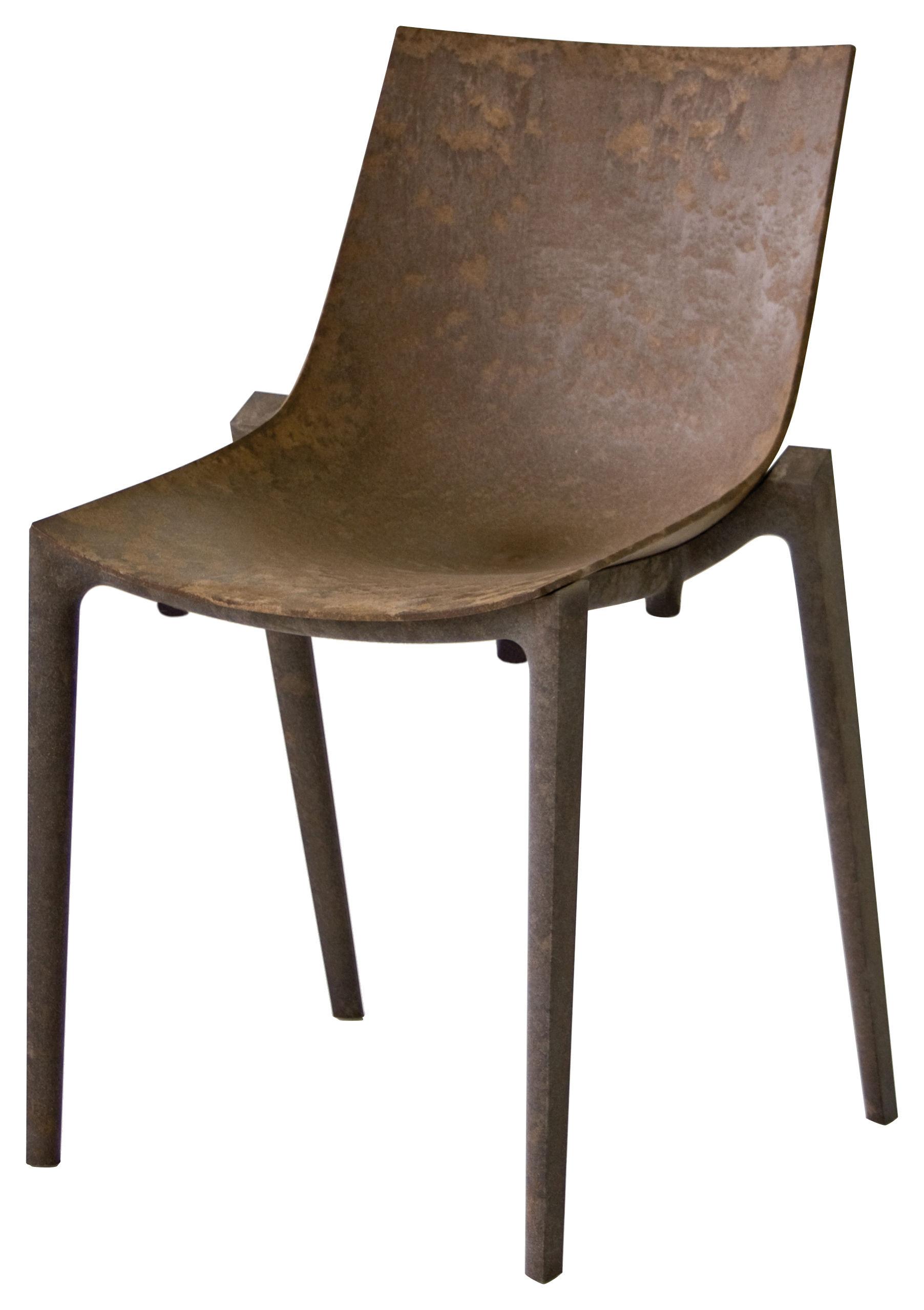 Arredamento - Sedia impilabile Zartan Raw - /Ideata da Philippe Starck di Magis - Segatura - Fibra di legno, Polipropilene riciclato