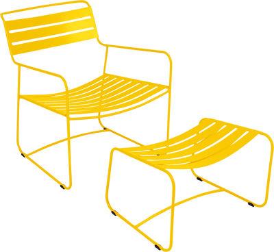 Set fauteuil & repose-pieds Surprising Lounger - Fermob miel en métal