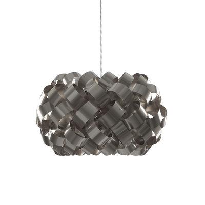 Image of Sospensione Ring Sphere - / Ø 50 x H 35 cm - PVC di Pallucco - Grigio/Argento/Metallo - Materiale plastico