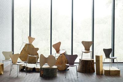 Serie 7 Holz Lackiert Fritz Hansen Stuhl