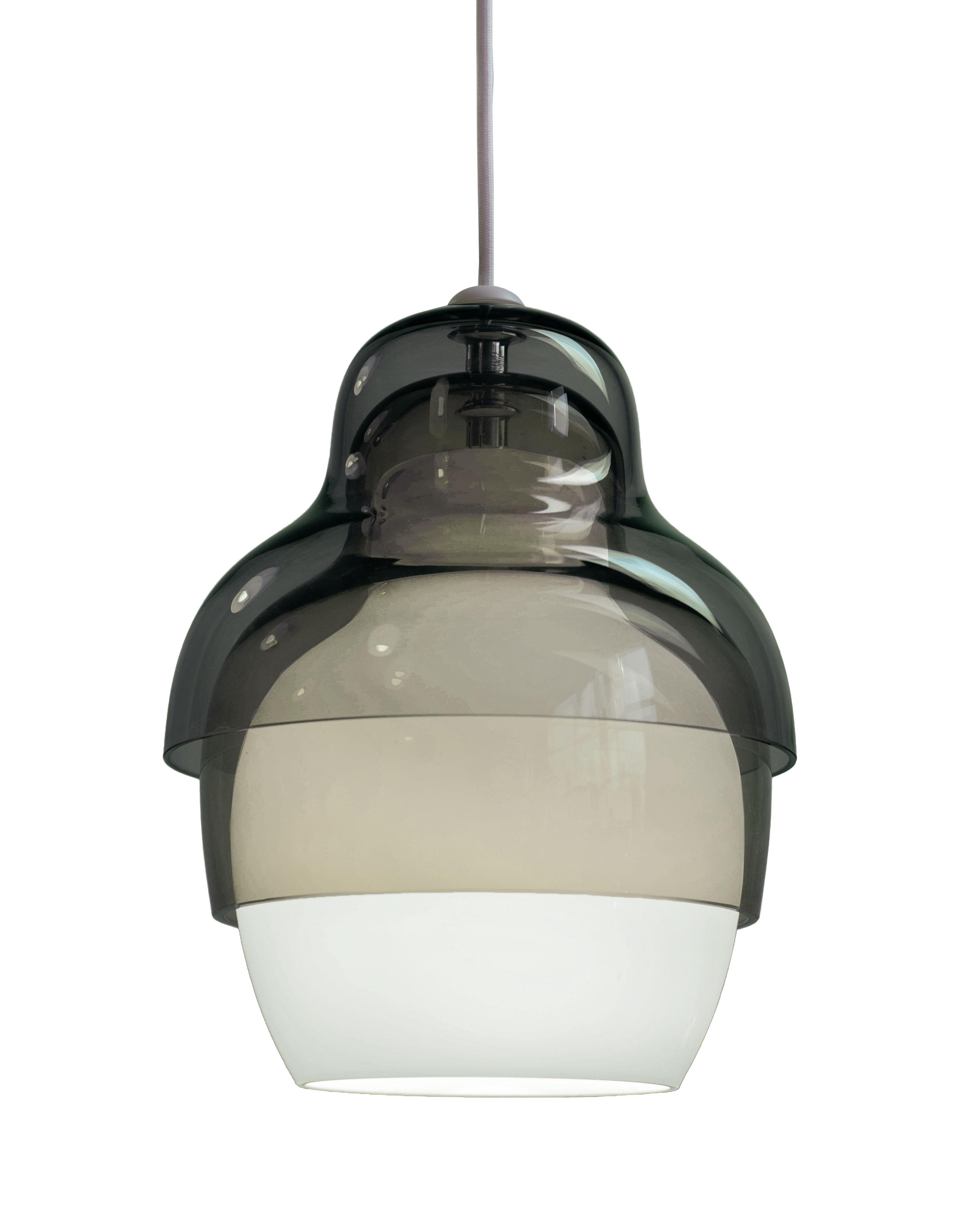 Luminaire - Suspensions - Suspension Matrioshka - Innermost - Gris - Verre soufflé