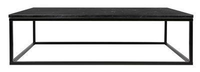 Table basse Marble / Marbre - 120 x 75 cm - POP UP HOME noir en pierre