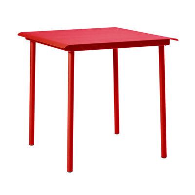Table carrée Patio Café / Inox - 75 x 75 cm - Tolix piment en métal
