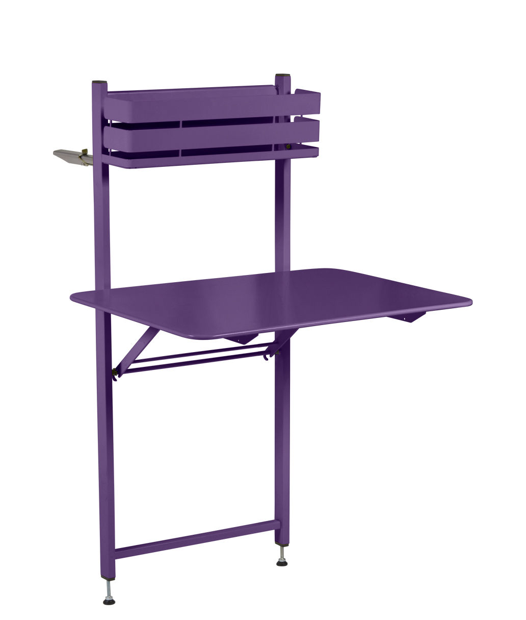 Table pliante Balcon Bistro Fermob - Aubergine - l 54 x h 74 | Made ...