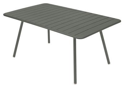 Table Luxembourg / 6 à 8 personnes - 165 x 100 cm - Fermob romarin en métal