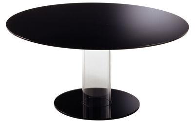 Table ronde Hub / Ø 160 cm - Glas Italia noir en verre