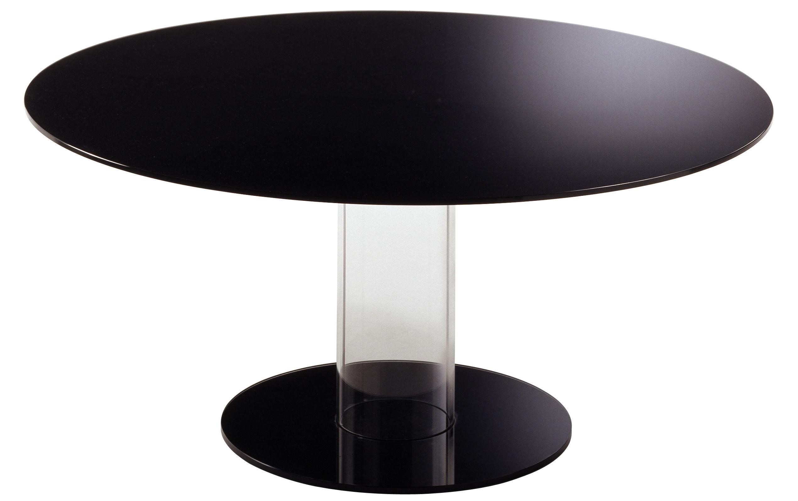 Mobilier - Tables - Table ronde Hub / Ø 160 cm - Glas Italia - Noir - Ø 160 cm - Verre