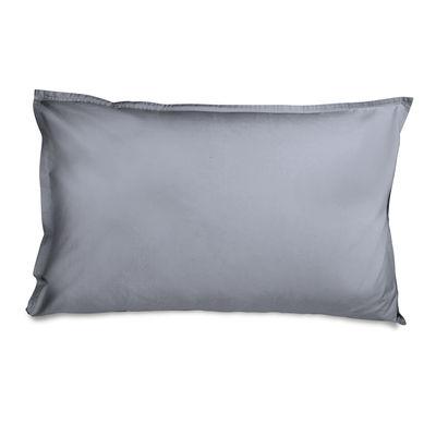 Taie d'oreiller 50 x 70 cm / Percale lavée - Au Printemps Paris gris en tissu