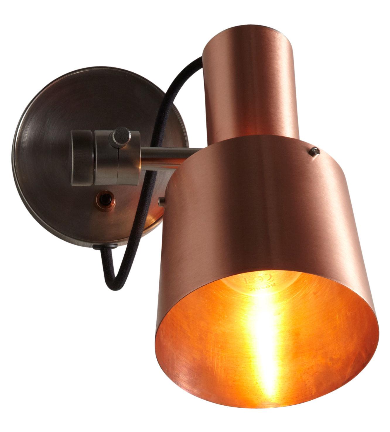 Illuminazione - Lampade da parete - Applique Chester - / Orientabile di Original BTC - Rame satinato / Supporto acciaio - Acciaio inossidabile, Rame satinato