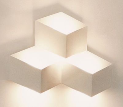 Luminaire - Appliques - Applique Fold Surface LED / 3 éléments - Vibia - Blanc - Aluminium, Méthacrylate