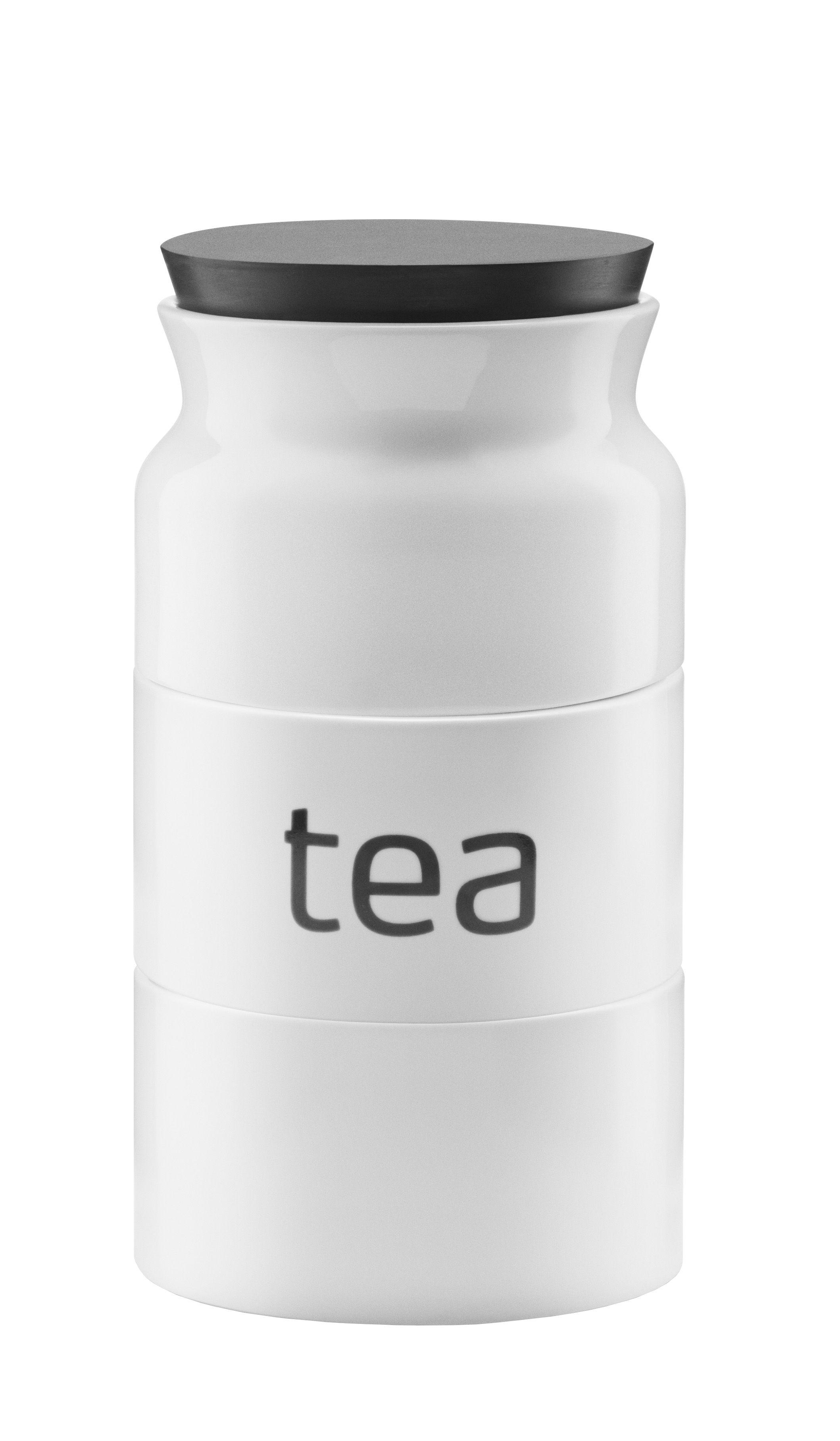 Arts de la table - Thé et café - Boîte à thé Tower / 3 compartiments - Eva Solo - Blanc - Porcelaine, Silicone