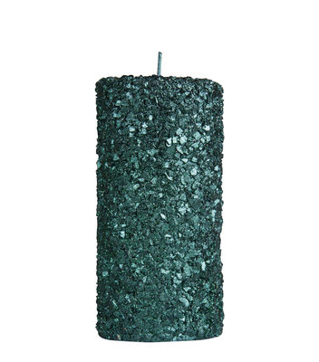 Déco - Bougeoirs, photophores - Bougie Pillar / Large - H 15 cm - & klevering - Large / Vert pailleté - Cire