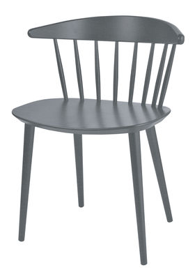 Furniture - Chairs - J104 Chair - / Wood by Hay - Stone grey - Lacquered beechwood