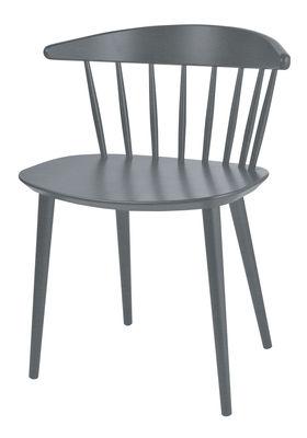 Mobilier - Chaises, fauteuils de salle à manger - Chaise J104 / Bois - Hay - Gris pierre - Hêtre laqué