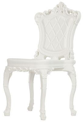 Mobilier - Chaises, fauteuils de salle à manger - Chaise Princess of Love /Polyéthylène - Design of Love by Slide - Blanc - Polyéthylène rotomoulé
