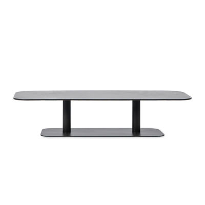 Furniture - Coffee Tables - Kodo Coffee table - / 129 x 45 cm - Aluminium by Vincent Sheppard - Fossil grey - Thermolacquered aluminium
