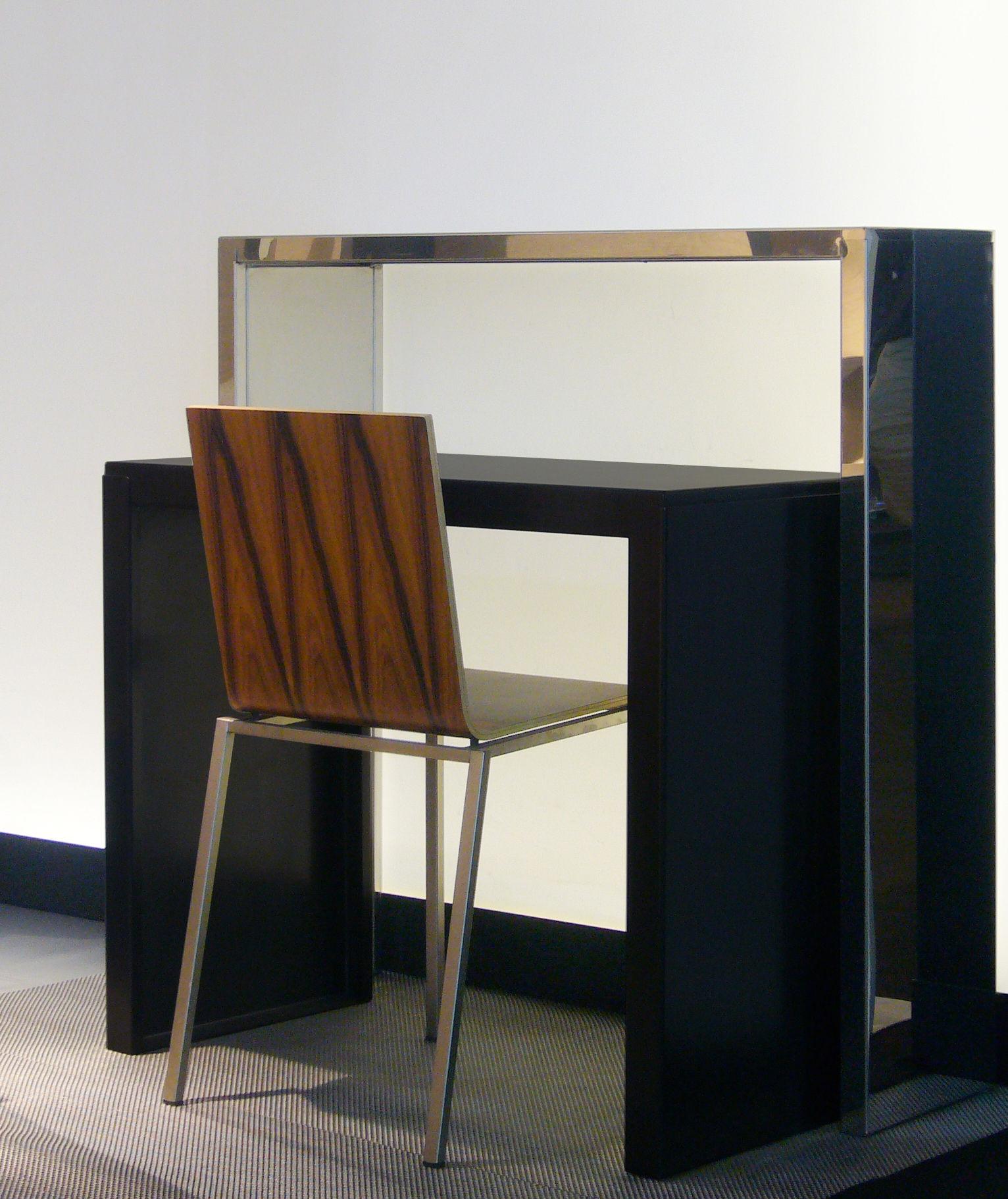 console inox high console miroir l 100 x prof 28 x h 100 cm zeus. Black Bedroom Furniture Sets. Home Design Ideas