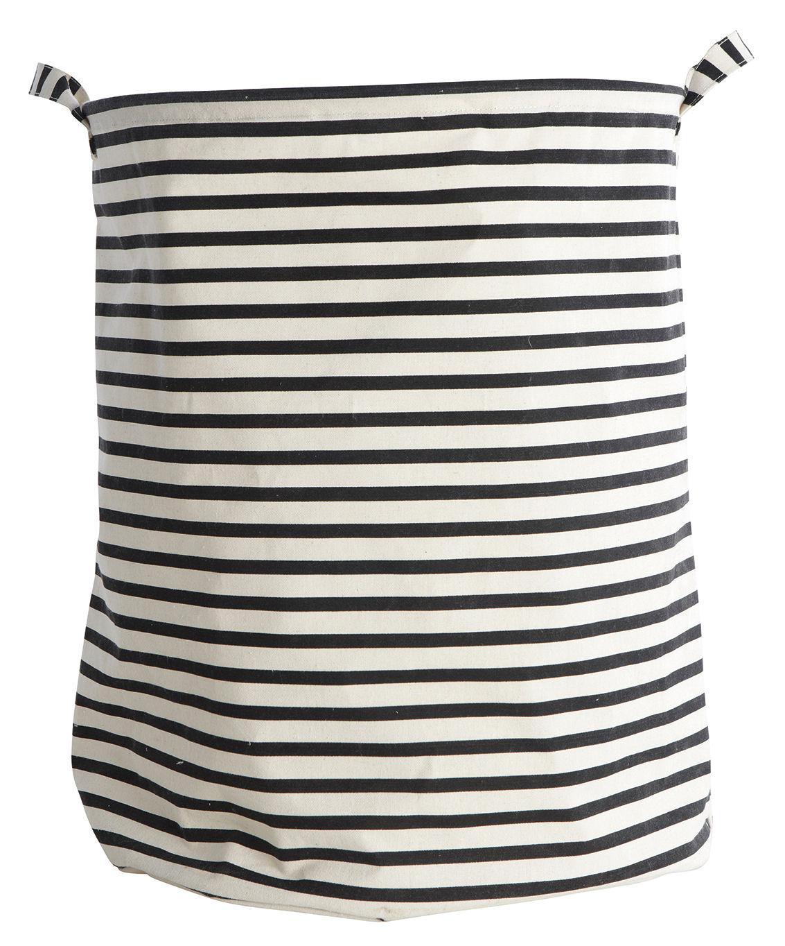 Déco - Paniers et petits rangements - Corbeille à linge Stripes /Ø 40 x H 50 cm - House Doctor - Rayures - Coton, Polyester