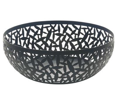 Arts de la table - Corbeilles, centres de table - Corbeille Cactus! / Ø 29 cm - Alessi - Noir - Acier inoxydable avec coloration résine époxy