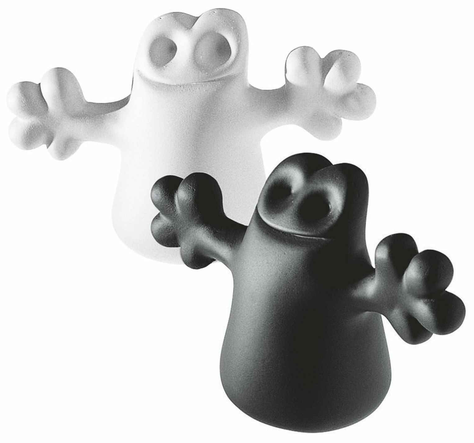 Kitchenware - Fun in the kitchen - Carlo Cork - Set of 2 by A di Alessi - Black / White - Thermoplastic resin