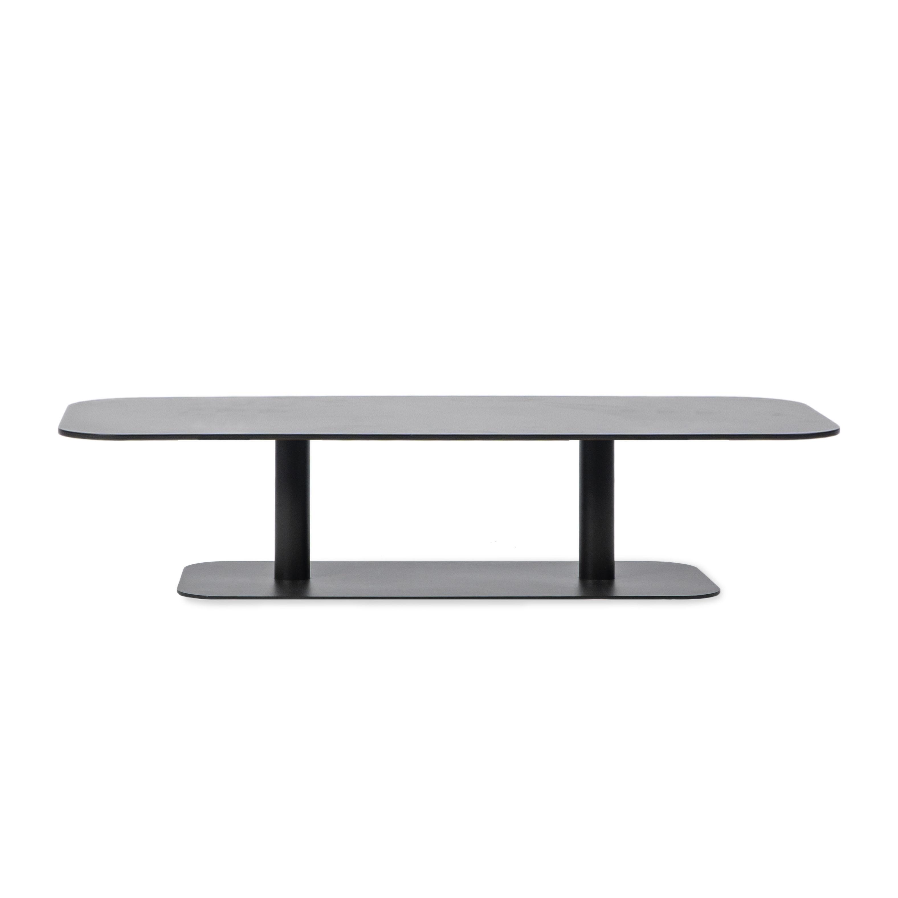 Möbel - Couchtische - Kodo Couchtisch / 129 x 45 cm - Aluminium - Vincent Sheppard - Fossilgrau - Aluminium thermolaqué