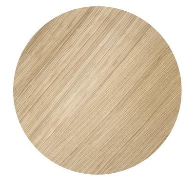 Déco - Corbeilles, centres de table, vide-poches - Couvercle pour corbeille Wire / Medium - Ø 50 cm - Ferm Living - Chêne huilé - Contreplaqué de chêne