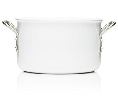 Cuisine - Casseroles, poêles, plats... - Faitout White Line / 3,8L - Eva Trio - 3.8 L - Blanc - Acier inoxydable, Aluminium, Céramique