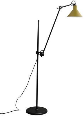 Lighting - Floor lamps - N°215L Floor lamp by DCW éditions - Yellow - Steel