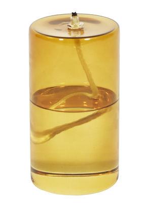 Image of Lampada a olio Olie - / Ø 7,5 x H 13,5 cm di ENOstudio - Giallo/Marrone - Vetro