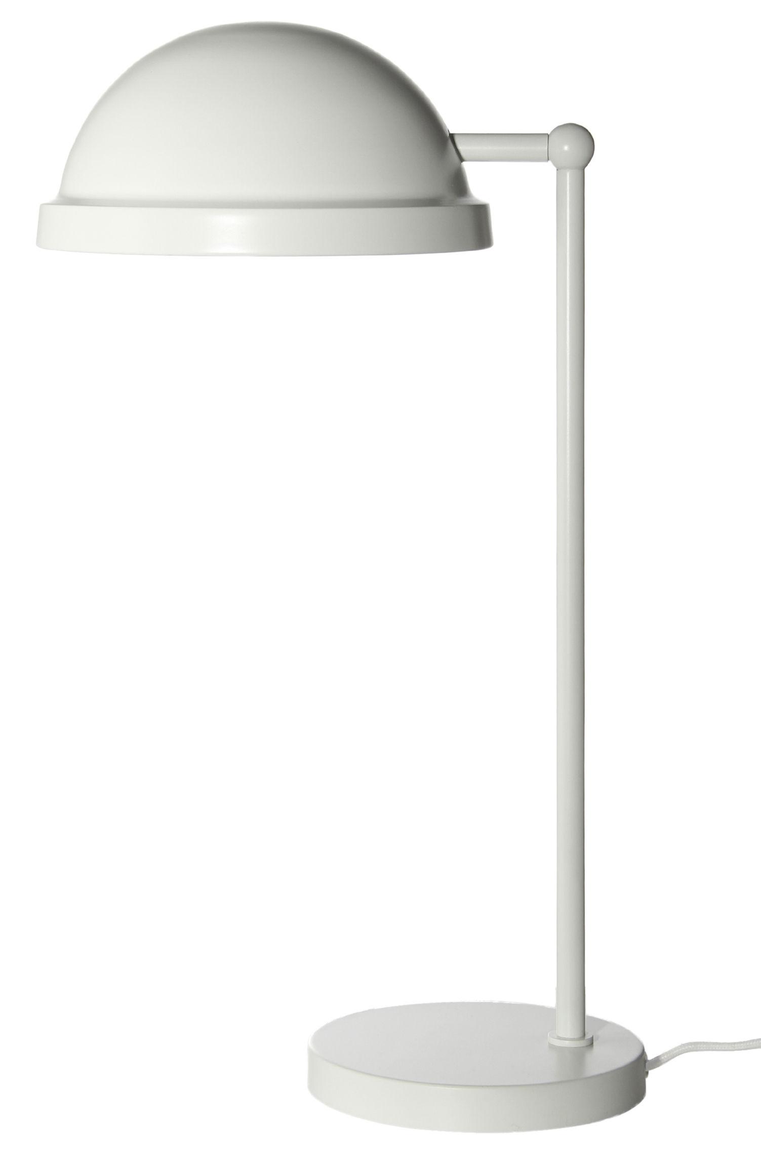 Luminaire - Lampes de table - Lampe de table Bowler / H 43 cm - Frandsen - Blanc mat - Métal peint