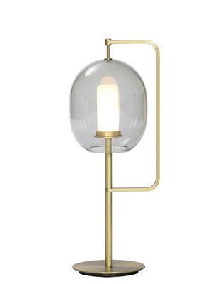 Luminaire - Lampes de table - Lampe de table Lantern / H 54 cm - ClassiCon - Laiton doré / Gris fumé - Laiton massif, Verre soufflé
