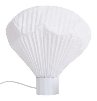 Luminaire - Lampes de table - Lampe de table Vaporetto / H 36 cm - Moustache - Base blanche / Diffuseur blanc - Métal laqué, Papier Tyvek