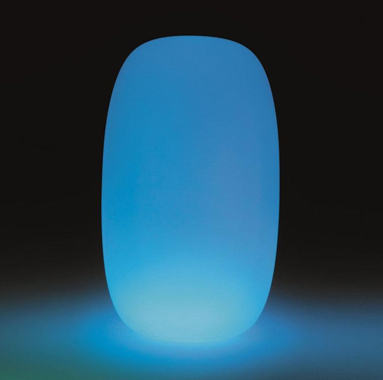 Luminaire - Lampadaires - Lampe Pandora Large LED RGB / Ø 40 x H 70 cm - Sans fil - MyYour - H 70 cm / Blanc & lumière multicolore - Poleasy®