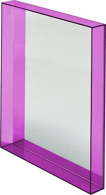 Mobilier - Miroirs - Miroir mural Only me / L 50 x H 70 cm - Kartell - Fuchsia transparent - Miroir, PMMA