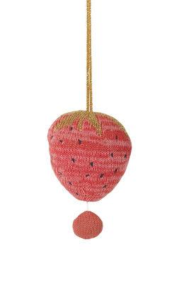 Interni - Per bambini - Mobile musicale Fruiticana - Fraise - / Lavorato a maglia di Ferm Living - Fragola - Cotone organico, Poliestere