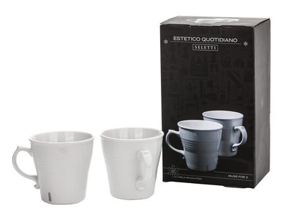 Arts de la table - Tasses et mugs - Mug Estetico Quotidiano / Set de 2 - Seletti - Blanc - Porcelaine