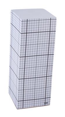 Dekoration - Büro - Tower block Notizblock Haftnotizenblock - H 20 cm - Hay - H 20 cm - kariert - Papierfaser