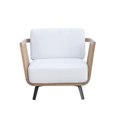 Furniture - Armchairs - Welcome Padded armchair - / Teak by Unopiu - Teak - Acrylic fabric, Aluminium, Foam, Teak